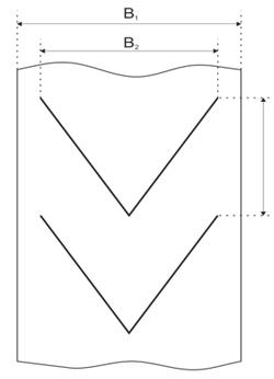 Конструкционные особенности шевронной ленты